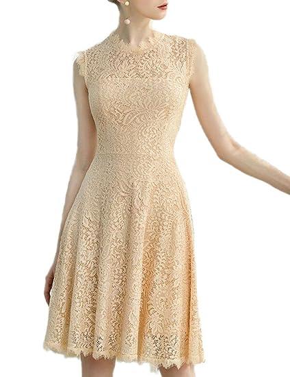 Dresstells Womens Elegant Open Back Lace Cocktail Dress For Special