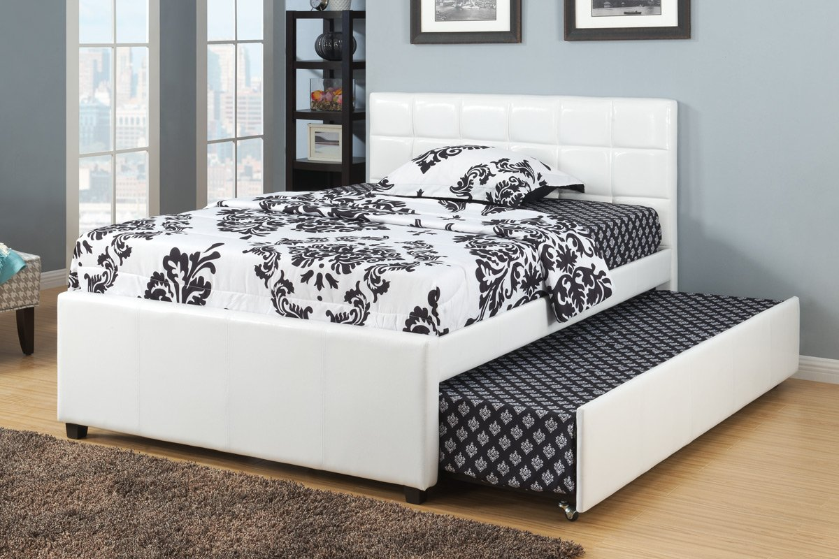 amazoncom full bed w trundle by poundex kitchen  dining -