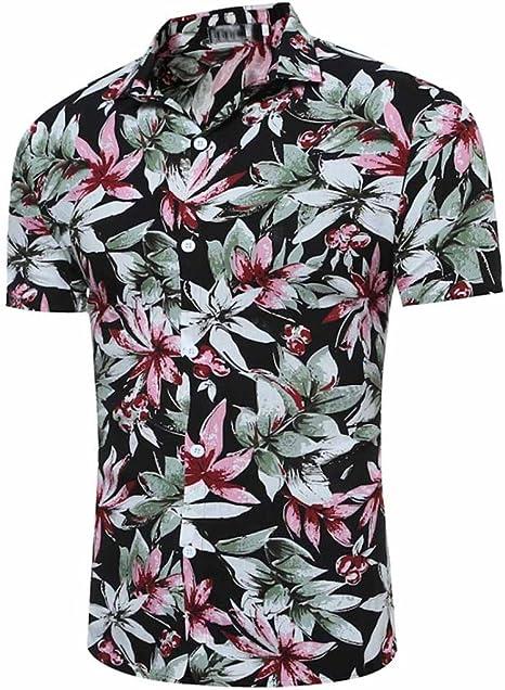 Camiseta hombre koly Long® Hombre hacha äufig Flores Imprimir Polo ...