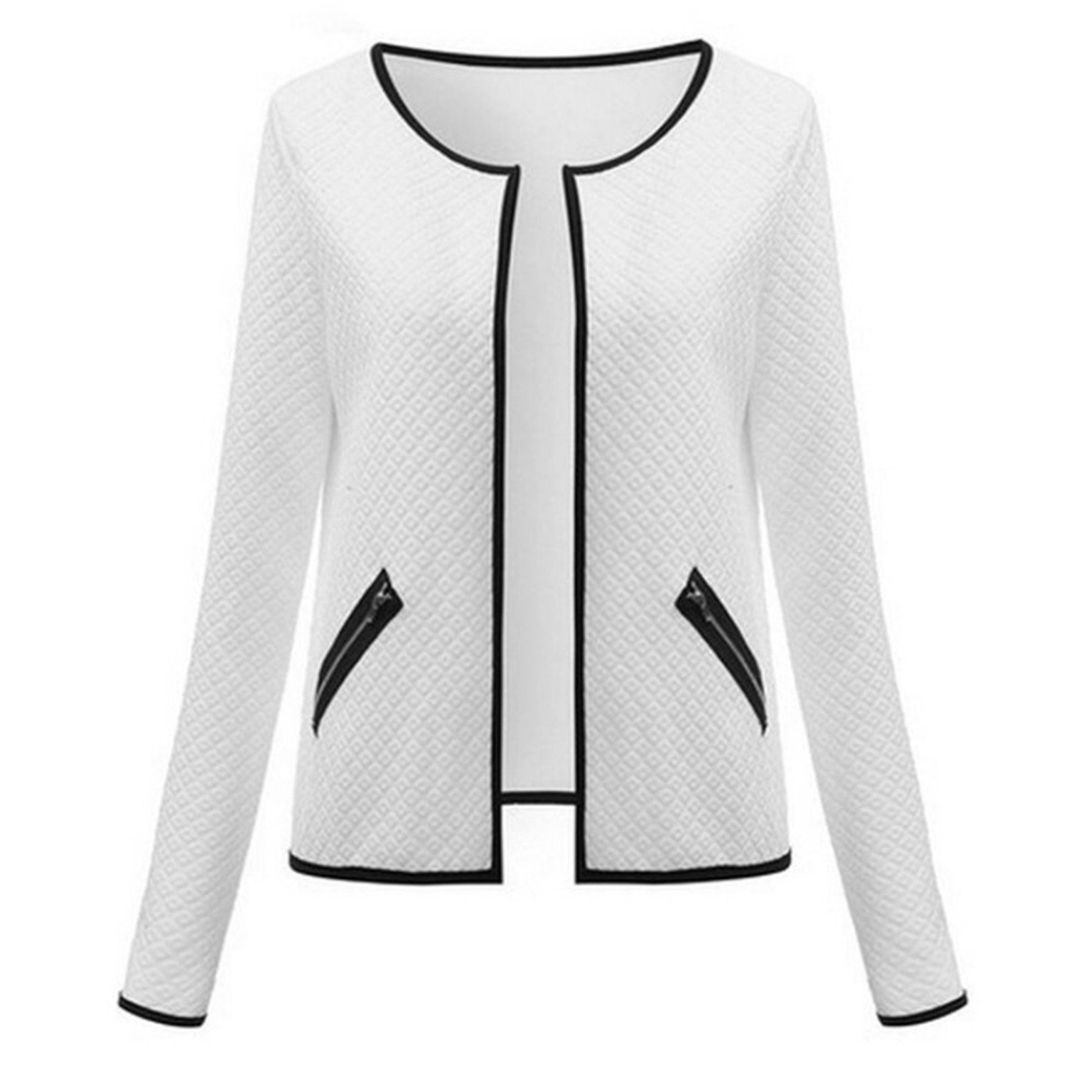 Fashion Women Coat Autumn Spring Long Sleeve Plus Cardigan Jacket Tops Outerwear