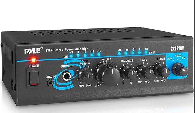 Home Audio Power Amplifier System 2X120W Mini