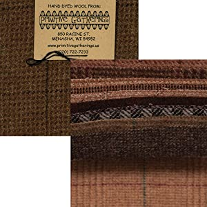 Primitive Gatherings Hand Dyed Wool Basket Charm Pack 10 5-inch Squares PRI 6013