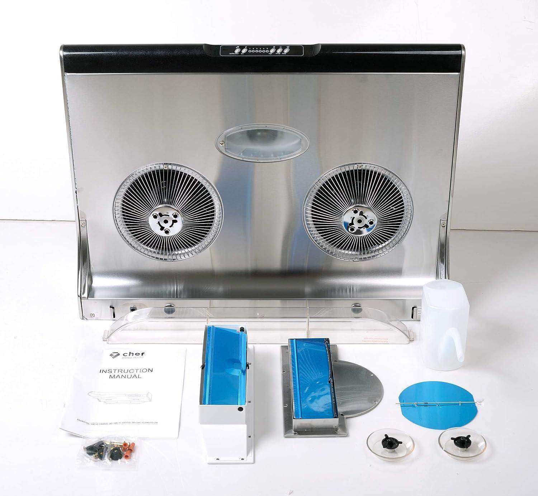 Appliances Range Hoods ghdonat.com 3-Way Venting Slim Stainless ...
