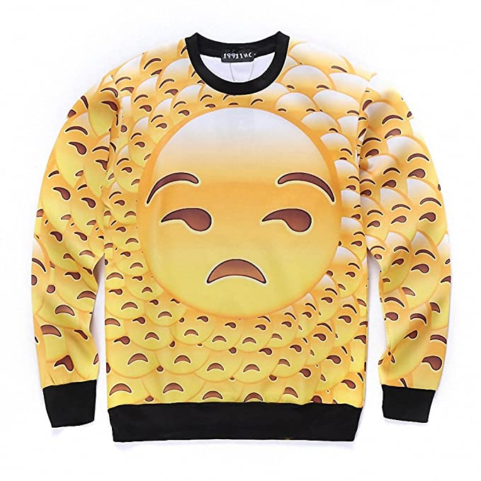 Crochi 3D Emoji Printed Hoodies Women/Men Pullovers Funny Sweatshirt Cartoon Graphics Fashion Long Sleeve Tops Drop Shippping at Amazon Womens Clothing ...