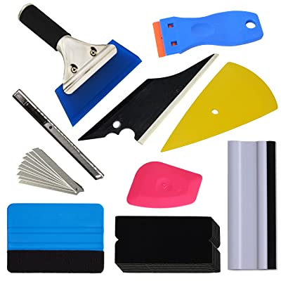 Ehdis 9 Kinds Vehicle Glass Protective Film Car Window Wrapping Tint Vinyl Installing Tool: Squeegees, Scrapers, Film Cutters, Felts: Automotive