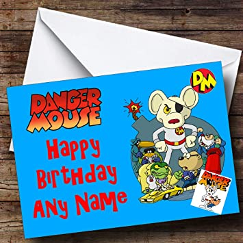 Personalised Dangermouse Birthday Card