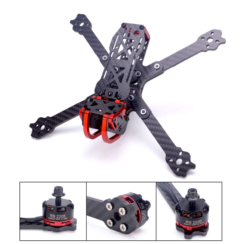 FPVDrone Dragon X5 225mm FPV Racing Drone Frame Carbon Fiber 5 Inch Quadcopter Frame Aluminum Parts+25cm Lipo Battery Strap