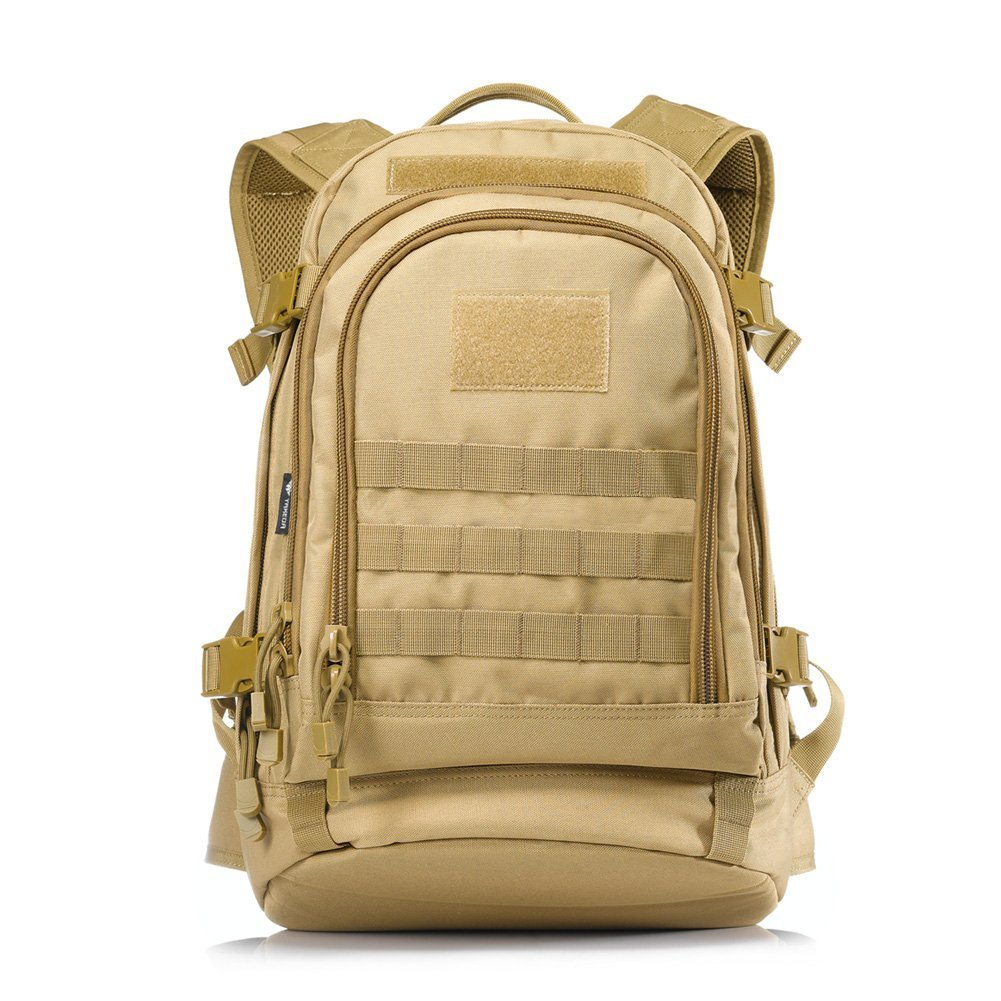 Black Yakeda A88051 600D Waterproof Polyester Military Backpack
