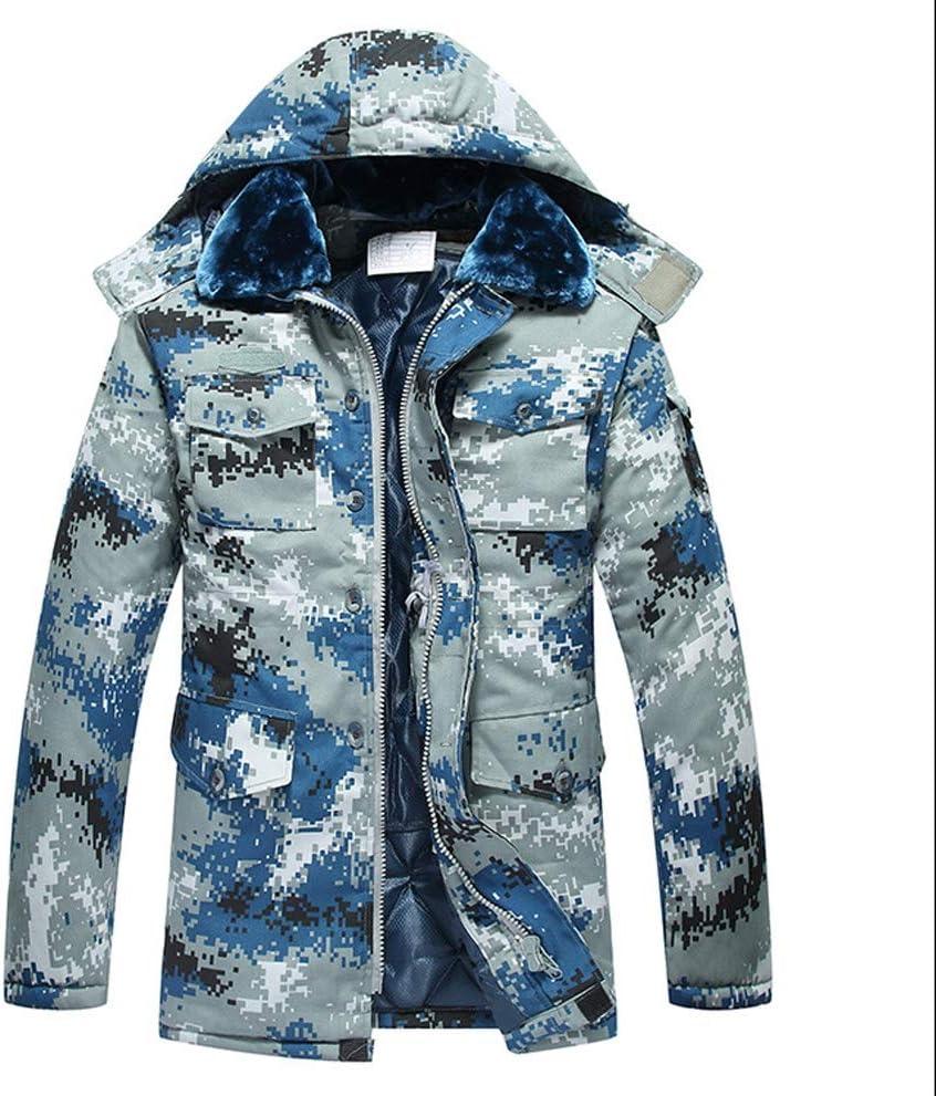 LEWWB Chaqueta Militar Caliente para Hombre a Prueba de Viento Jacket Engrosamiento cálido más Terciopelo de Gran tamaño.Abrigo Abrigo de algodón Grueso Resistente al Agua y al frío