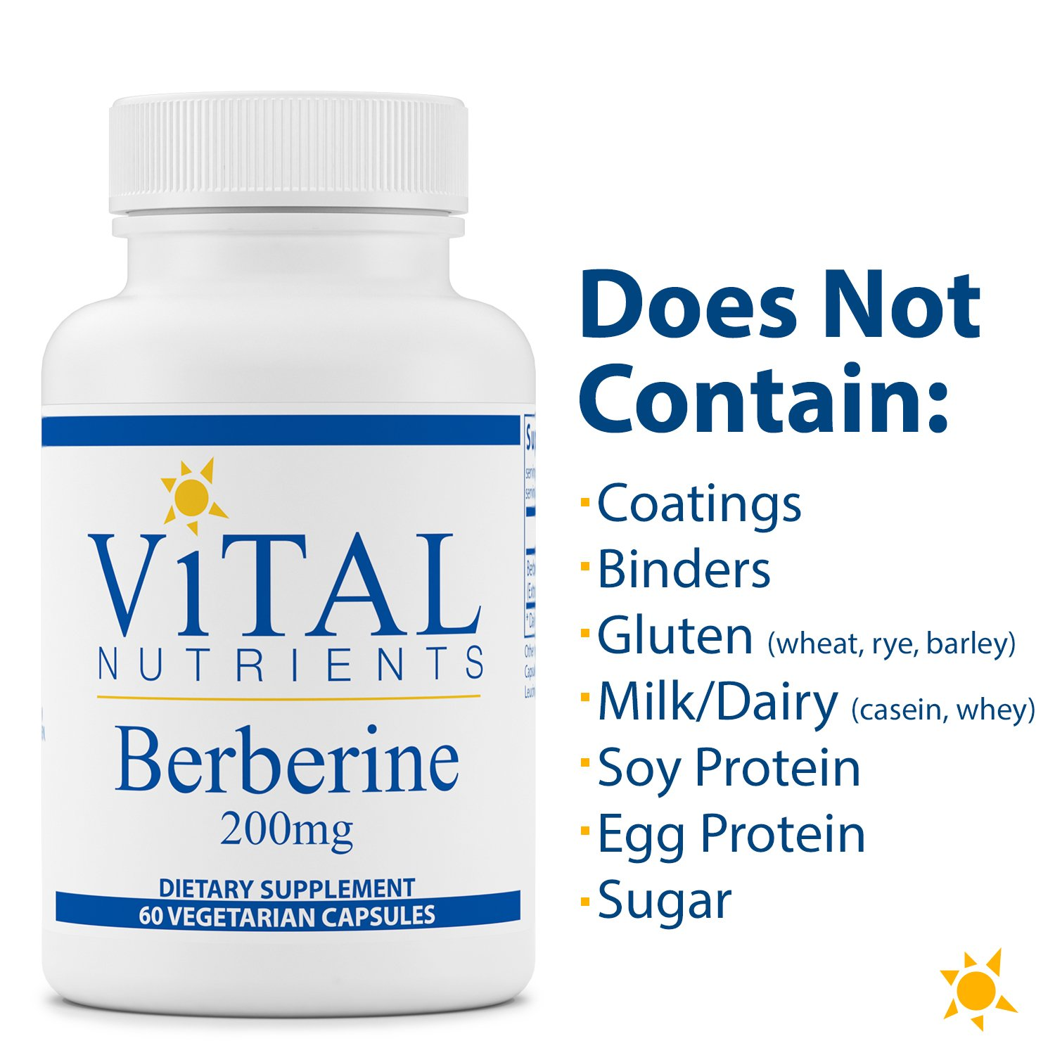 Vital Nutrients - Berberine 200 mg - Supports Regular and Normal Bowel Function - 60 Capsules by Vital Nutrients (Image #5)