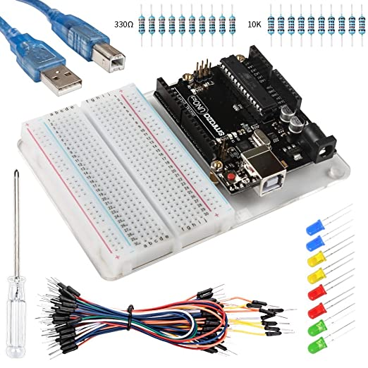27 opinioni per Smraza Starter Kit for Arduino with Uno R3, Breadboard,Jumper Wires,USB Cable