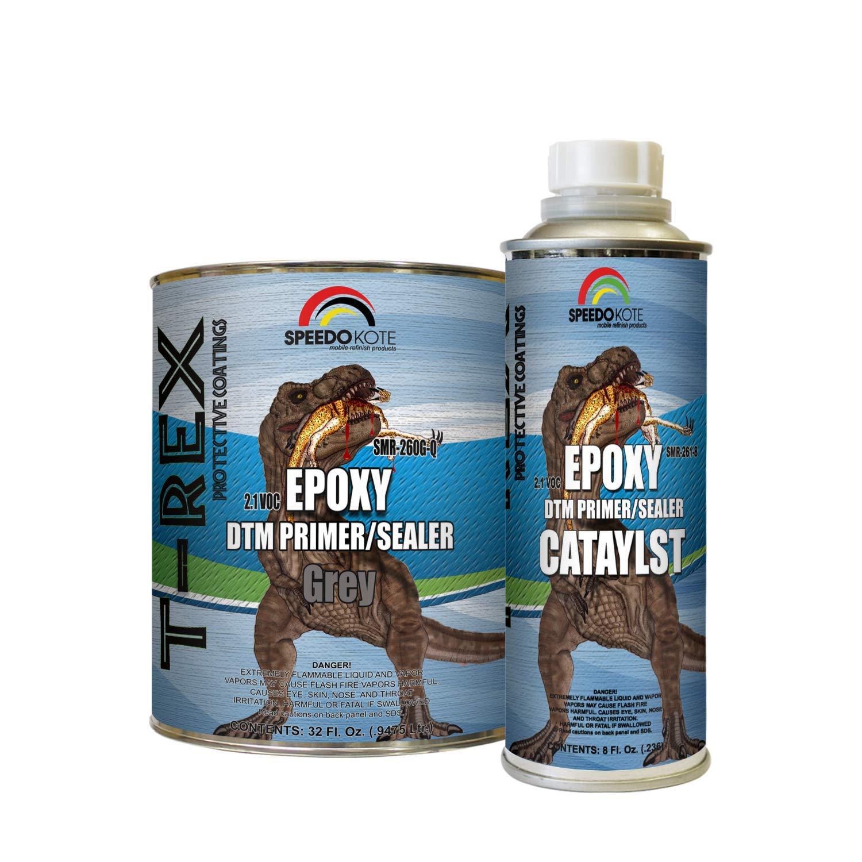 Speedokote Epoxy Fast Dry 2.1 Low voc DTM Primer & Sealer Gray Quart Kit, SMR-260G-Q/261-8