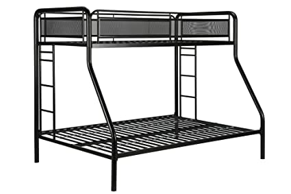 DHP Rockstar Metal Bunk Bed Frame, Sturdy Metal Design, Twin Over Full