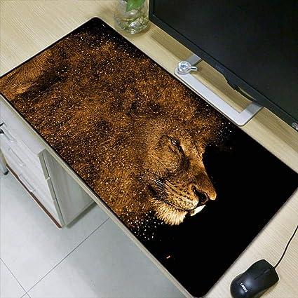 HONGHUAHUI Animal Lion Mesa de escritorio durable Bloqueo grande ...