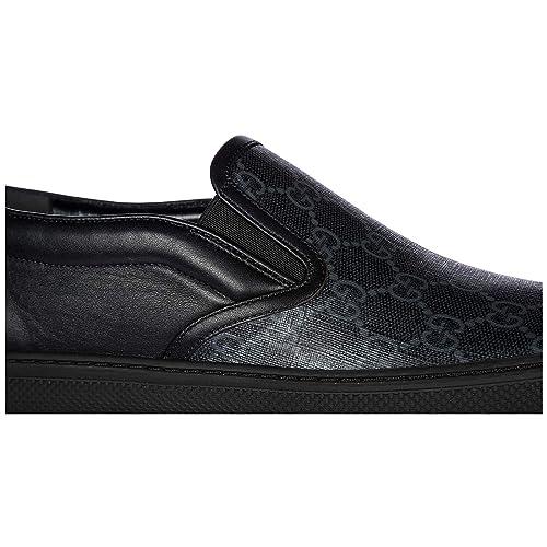 Gucci Slip On EN Piel Hombre Nuevo GG Negro EU 44 407362KWZK01082: Amazon.es: Zapatos y complementos