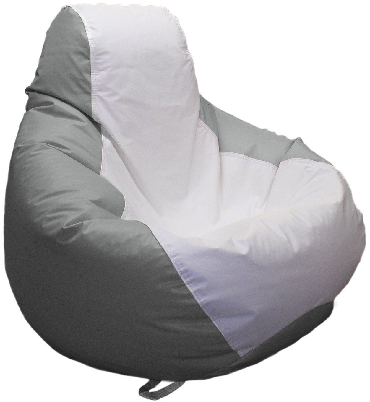 Ocean-Tamer Medium Teardrop Marine Bean Bag (White/Med Gray) by Ocean-Tamer Marine Bean Bags