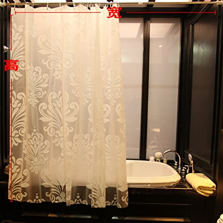 SUHANG Shower Curtain Cloth Wall Curtains Waterproof Mildew Resistant Thick From Punched Toilet