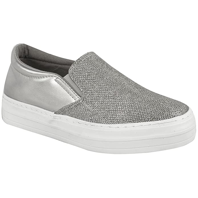 Sneakers argentate per bambina Fashion thirsty iwHcbSsbw