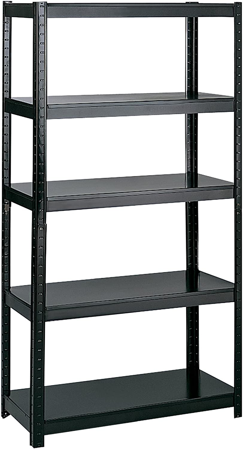"""Safco Products 5247BL Boltless Steel Shelving 36""""W x 24""""D x 72""""H, Black"""