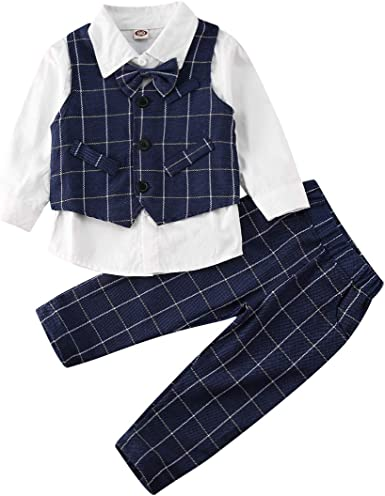 Lito Baby Boys Khaki Eton Short Formal Ring Bearer Easter Suit 6-24M