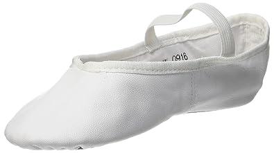 SoDanca BAE 90 BAE90 - Zapatillas de danza de cuero para niños, color blanco, talla 40