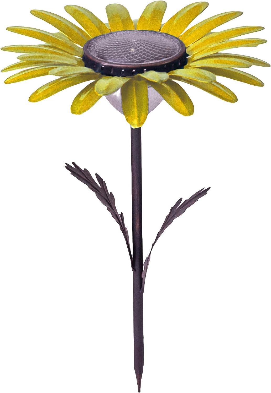 Desert Steel Flower Solar Light - (Yellow Daisy - 18