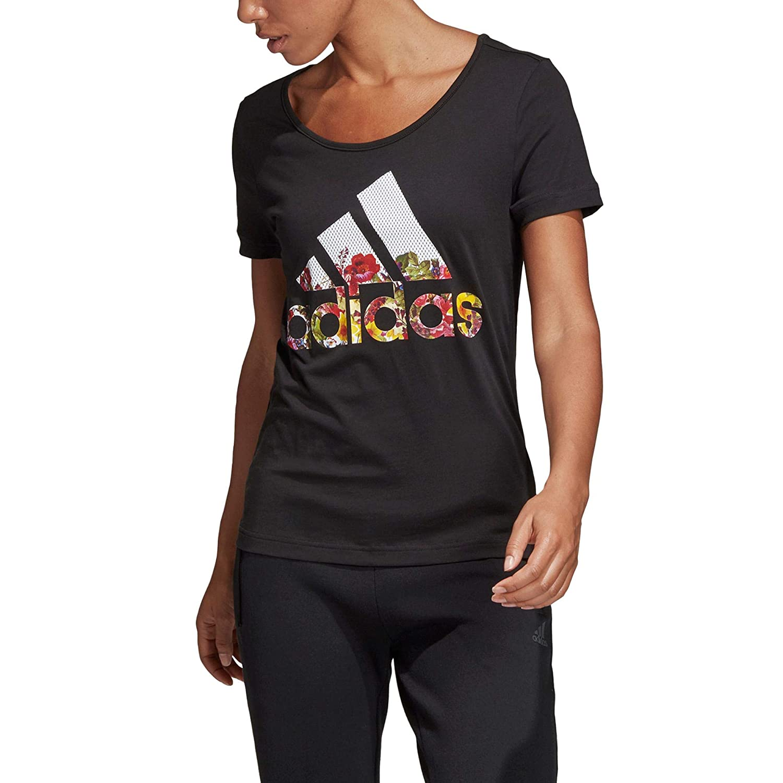 adidas Damen Bos Flower Tee T-Shirt