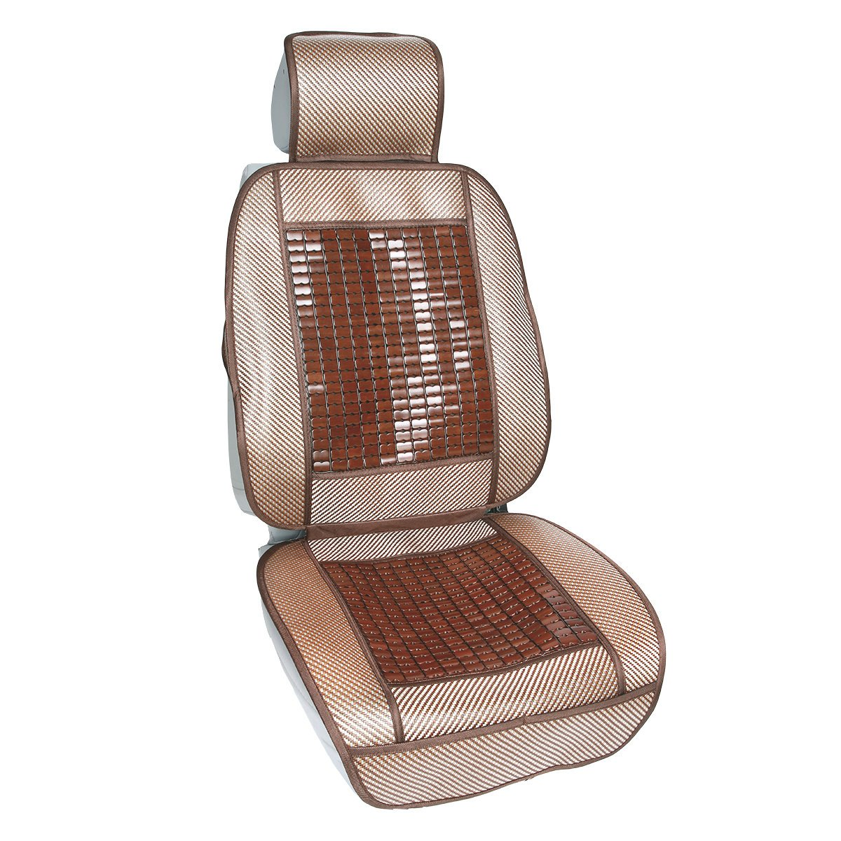 Qbedding Soothing Drive Cooling Series Universal Fit Breathable Car Seat Cover (Mahjong Bing Si, One Piece)