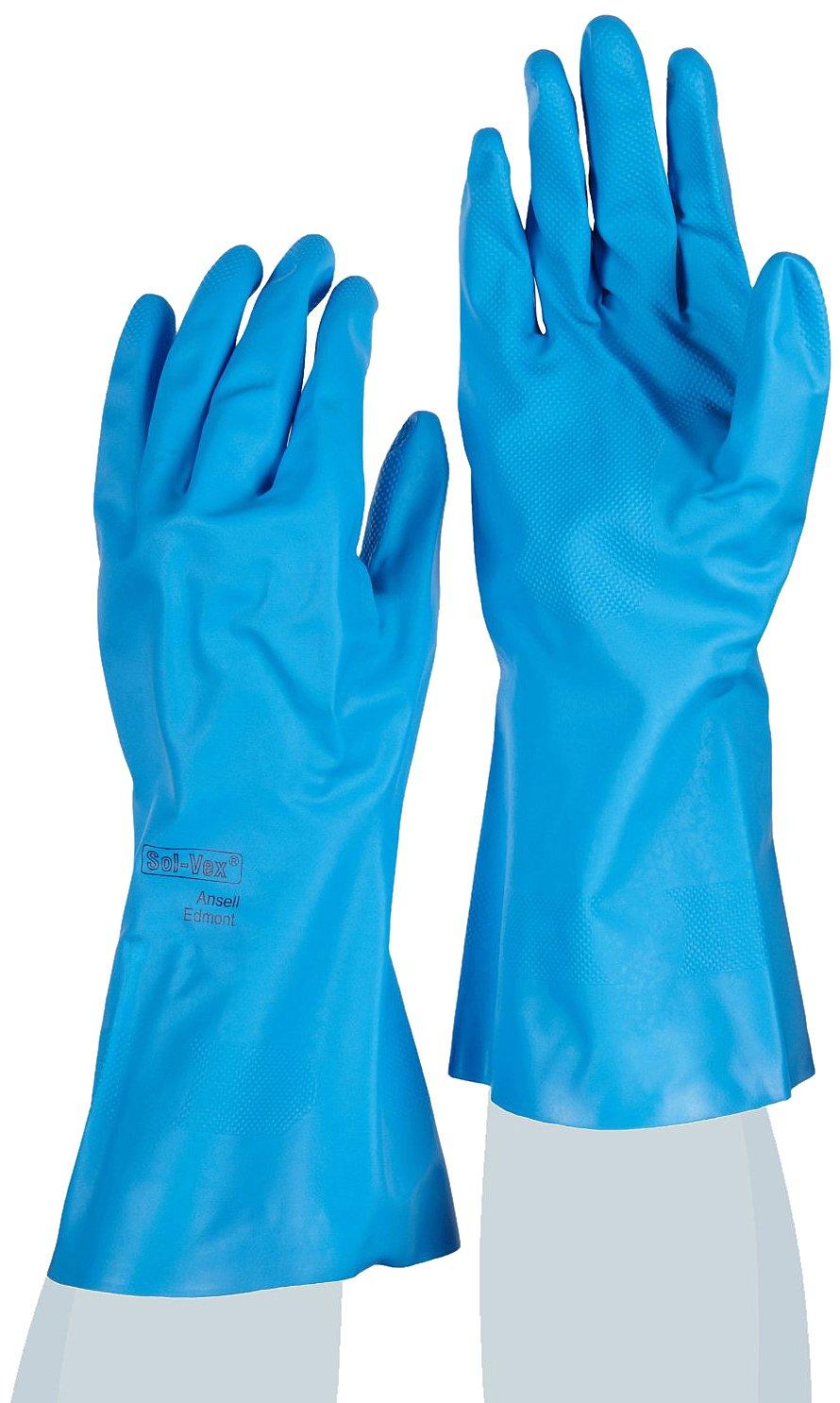Procesado de alimentos Tama/ño 10 Ansell VersaTouch 37-510//10 Nitrilo guante bolsa de 12 pares Azul
