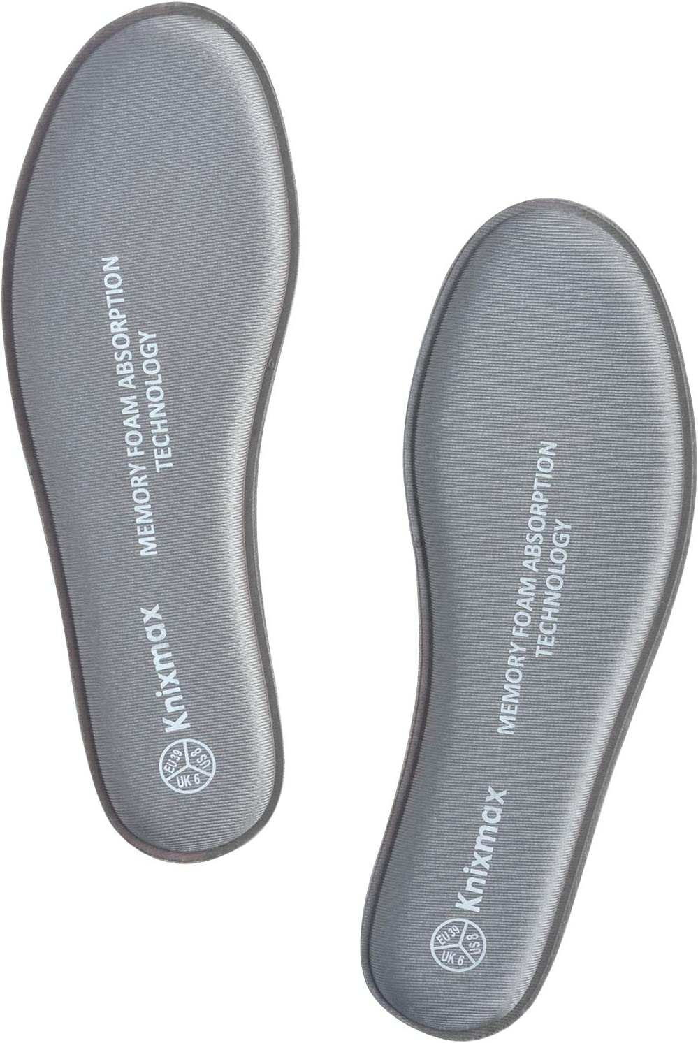 Knixmax 2 Pairs of Comfort Insoles for Men Women Kids Replacement Inner Soles for Trainers Walking Shoes Work Boots