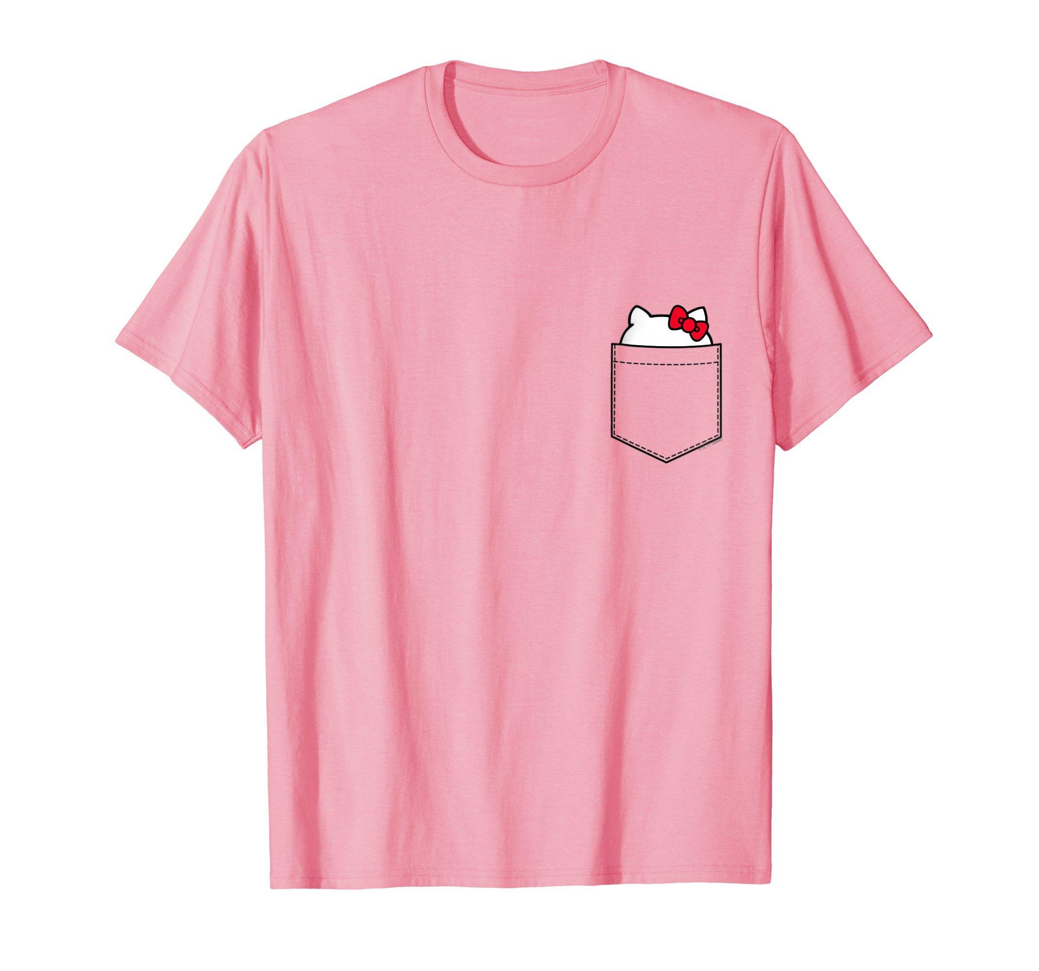 Mens Hello Kitty Peeking Pocket Tee Shirt 3XL Pink