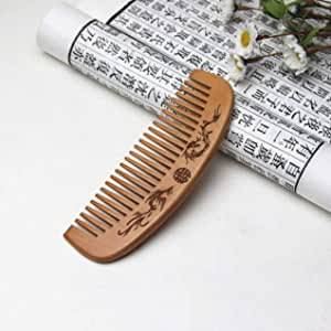 Mandyu Credible Hand Crafted Natural Fine Prosperity Brought By The Dragon And The Phoenix Beard Comb Hair Styling Tool in fine style(None Long Feng Cheng Xiangkuan)