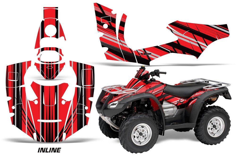 AMR Racing Graphicsキットfor ATVホンダRincon 2006 – 2014 ATVインラインレッドブラック   B0797BYCJK