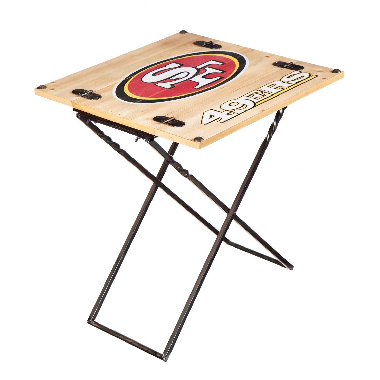 Team Sports America NFL Folding Armchair Table San Francisco 49ers
