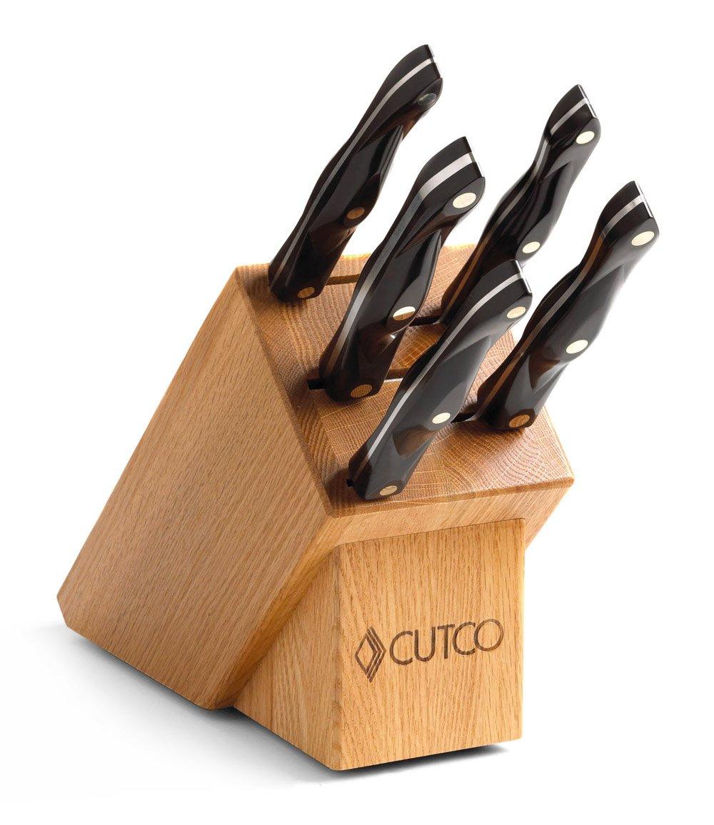 Cutco Gourmet-Set in Eichenholzblock (weiß): Amazon.de: Küche & Haushalt