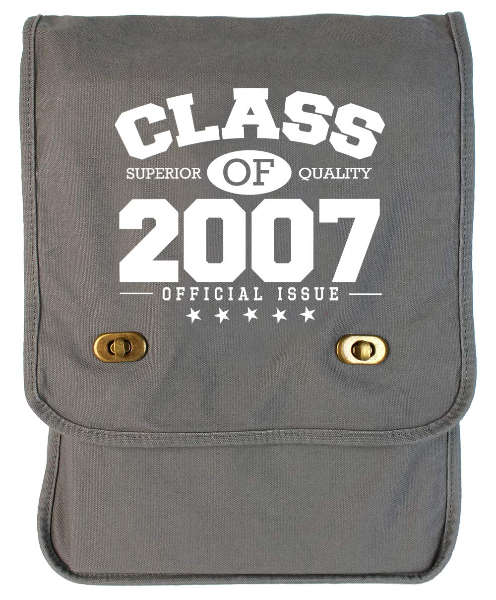 Tenacitee Class of 2007 Grey Brushed Canvas Messenger Bag
