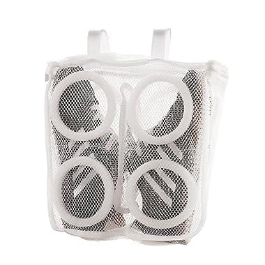 ROMMEKA Shoes Wash Bag, Mesh Sneaker Washing and Dry Bag, Perfect for Washing Machine, Storage Organizer (White) (White)