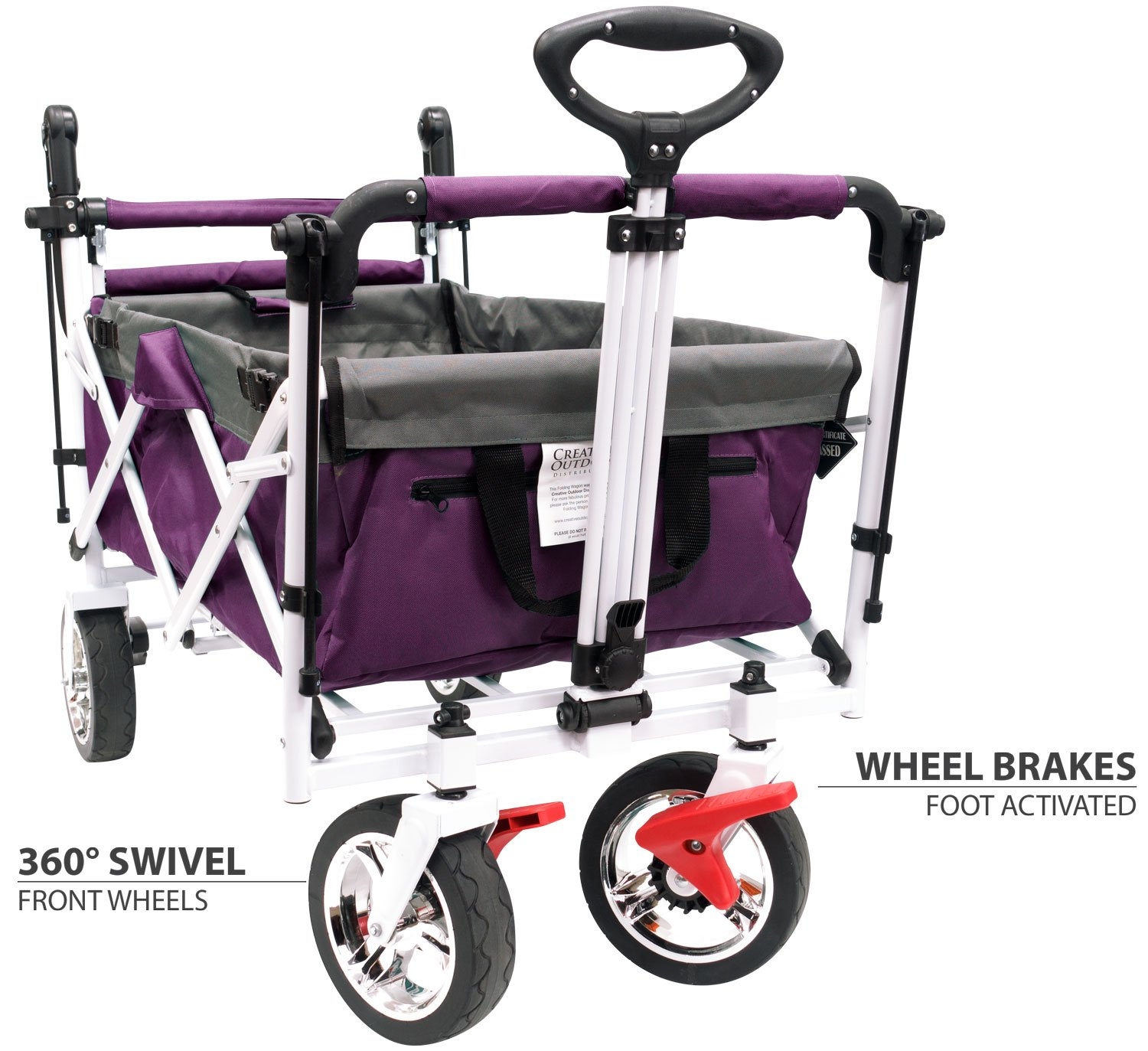 Creative Outdoor Push Pull Collapsible Folding Wagon Stroller2