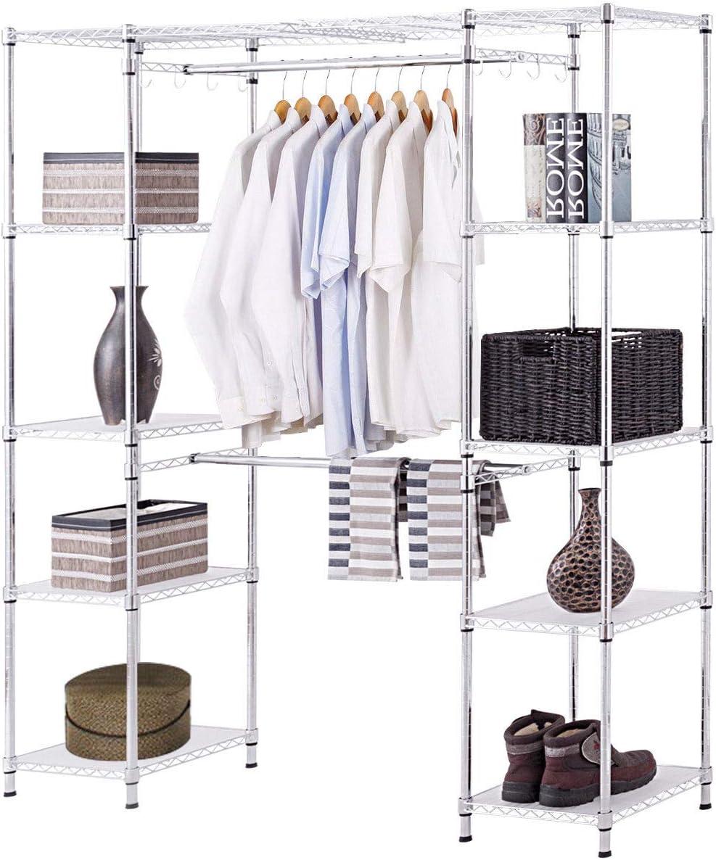 Tangkula Expandable Garment Rack