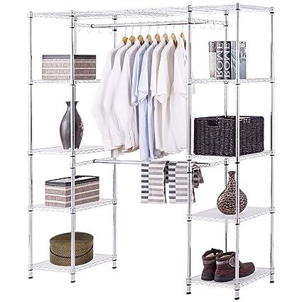 Amazon.com: Tangkula Garment Rack Portable Adjustable Expandable ...