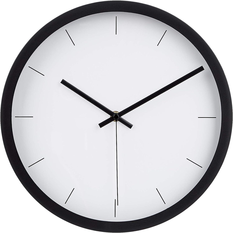 "AmazonBasics 12"" Modern Wall Clock - Black"