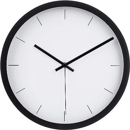 Amazonbasics - orologio da parete moderno, 30,5 cm, nero 1013648-040-A60