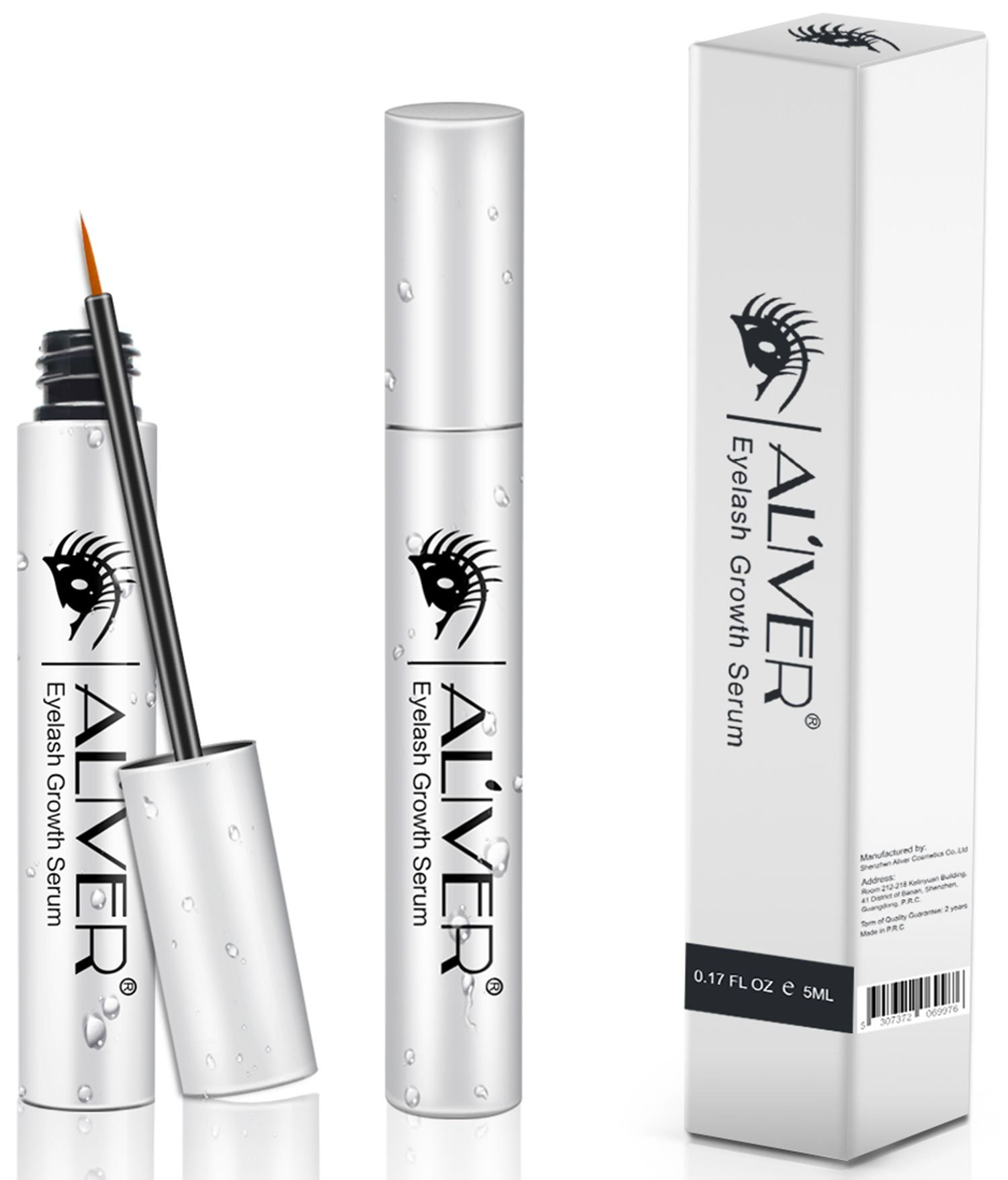 Eyelash Growth Serum, Revitalash Lash&Brow Rapid Growth and Boost by Aliver (Silver)