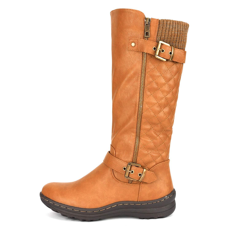 2c6c251b2c4 DREAM PAIRS Women s Fur Lined Flat Winter Snow Boots