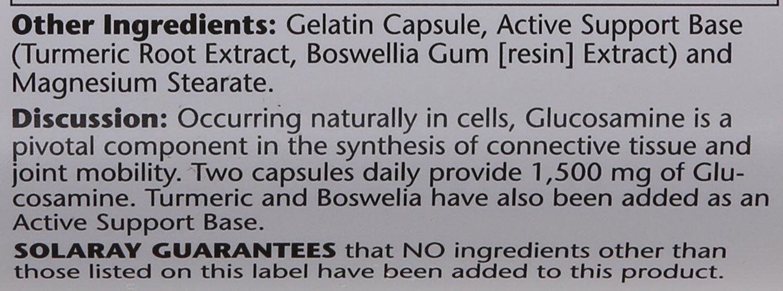 Solaray Glucosamine Sulfate Capsules, 1500mg, 120 Count by Solaray (Image #3)