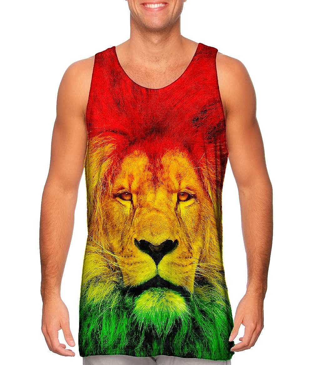 Yizzam Tshirt Mens Tank Top Rastafarian Lion