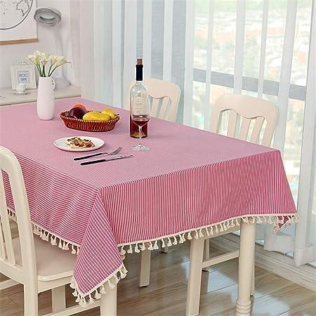 SONGHJ Mantel a Rayas de Lino de algodón Mantel Cocina Sala de ...