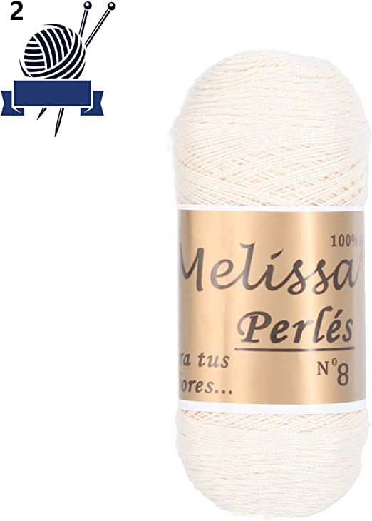 Melissa Perlé 8 - Hilo de Algodón Hilado 100% Algodón para Coser ...