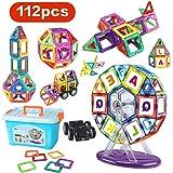 LBLA Magnetic Blocks, Magnetic Building Set, Magnetic Tiles, Educational Toys (112 PCS)