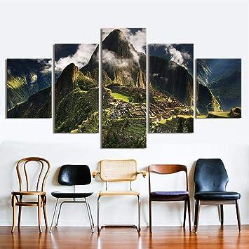 Olydmsky Toile Murale Decoart Mural Pour Salon Encre Moderne